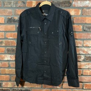 South Pole WT:027 L/S TruFit Button-down Shirt